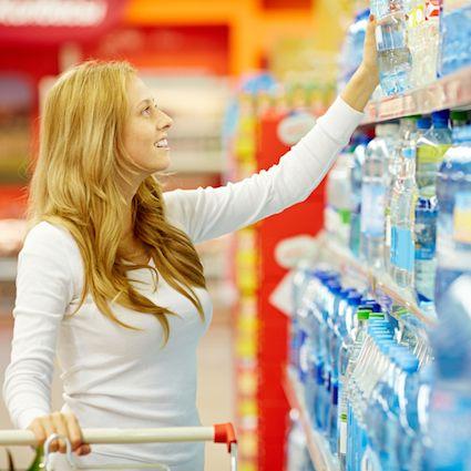 besparen in supermarkt